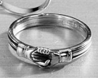 Italian Fede Ring - Friendship Trust Sterling Silver - 16th Century
