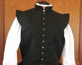 Basic Black Fencing Jerkin Doublet - Gipsy Peddler SCA Rapier Armor