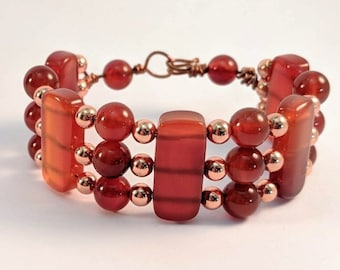 Carnelian and Copper Cuff - Egyptian