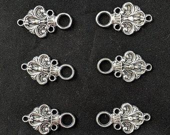 Fleur de Lys Lacers - Elizabethan - Italian Renaissance - Clasps