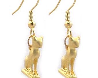 Sacred Cat Earrings - Goddess Bastet - Ancient Egyptian Jewelry
