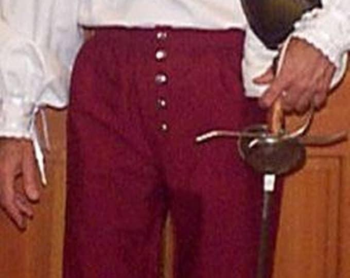 In Stock! Black Fencing Venetians -  Button Fly Pants - Rapier Armor