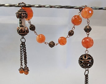 Love and Peace Relic on Carnelian Tenner - Chaplet Paternoster Rosary