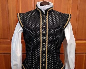 Sussex Brocade Fencing Jerkin Doublet - Gipsy Peddler SCA Rapier Armor