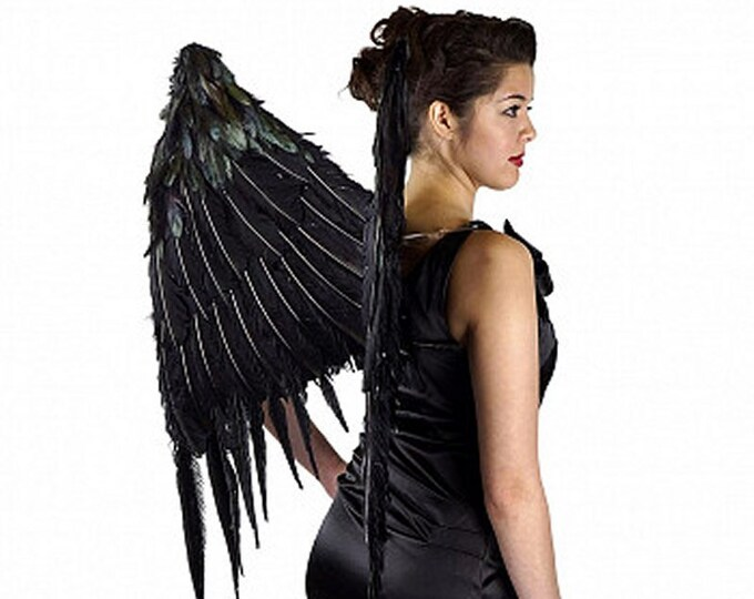 Large Black Gothic Wings - Angel of Darkness - Dark Angel Feathers