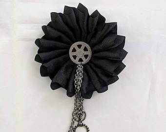 Steampunk Cockade with Chains and Gears-Cockade for Bicornes/Tricorns
