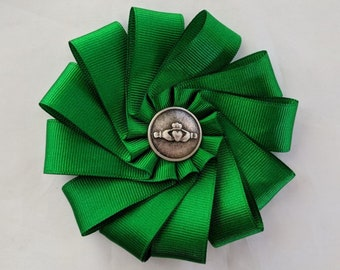 Celtic Cockade for Tricorn or Bicorne - Society of United Irishmen - Claddagh