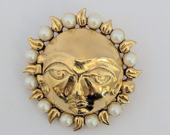 Zodiac Sun Brooch - Antiquities - Elizabethan Renaissance - Victorian