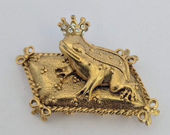 Vintage Frog Prince Brooch - Antiquities - Elizabethan Renaissance - Victorian