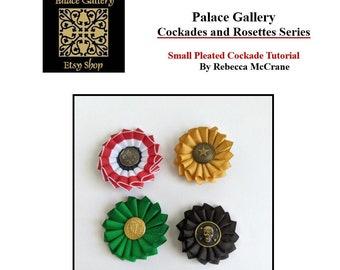 DIY Small Pleated Cockade Tutorial - Cockade Pattern