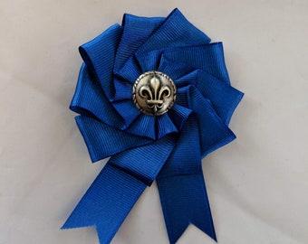 French Cockade - Blue or White Rosette - French Pre-Revolution Ribbons