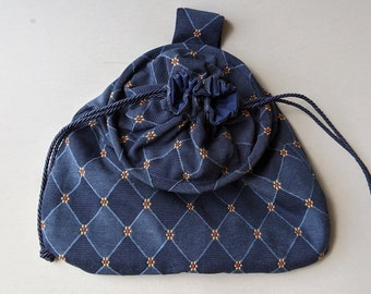 In Stock! Navy Weston Drawstring Belt Pouch - Game Bag Renaissance