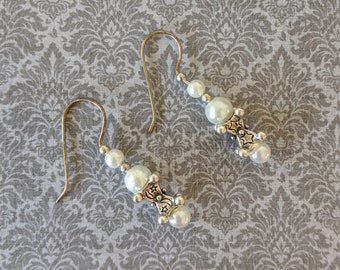 Pearl Earrings with Heart - Stars - Moon