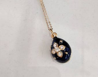 Russian Faberge Egg Necklace - 1842 to 1918
