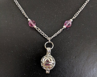 Libra Crystal Zodiac Necklace - Astrology September October Scales