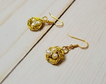Mother's Day Bird's Nest Earrings - Egg Earrings - Mother's Gift - Nest Earrings