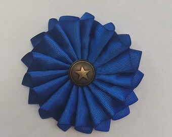 Blue Cockade - Protester's Cockade - Succession Ribbon - 18th - 19th century - Pleated