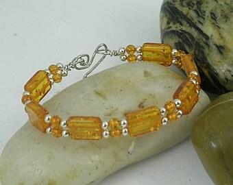 Amber Sunshine Bracelet - Great Mother - Egypt - Greek - Crete -