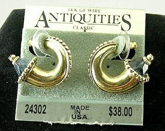 Greek Sapphire Horn Earrings - Elizabethan Renaissance - Victorian