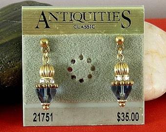 Greek Sapphire Cone Earrings - Elizabethan Renaissance - Victorian