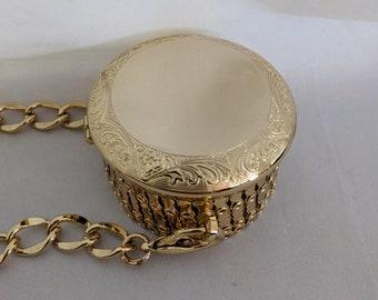 Chain & Gate Lid Metal Purse Frame - Goldtone - Renaissance Handbag
