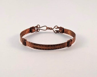 Wire Wrapped Plain Copper  Bracelet  Cuff