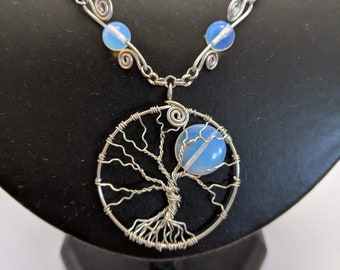 Winter's Moon #2 - Tree of Life Pendant - Spiritual Moonstone