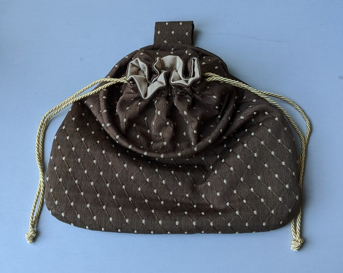 In Stock! Brown Sussex Drawstring Belt Pouch - Game Bag Renaissance