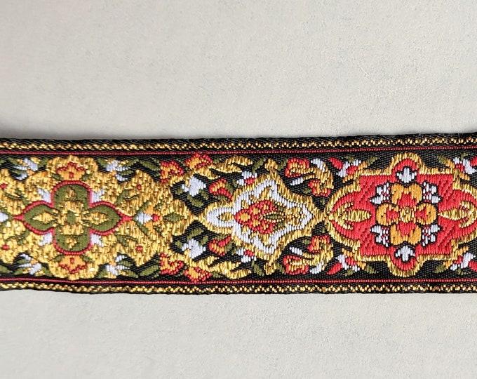 "1"" Persian Multi Color Metallic Trim -  Home Decor - Crafts - Ren Faire Clothing"