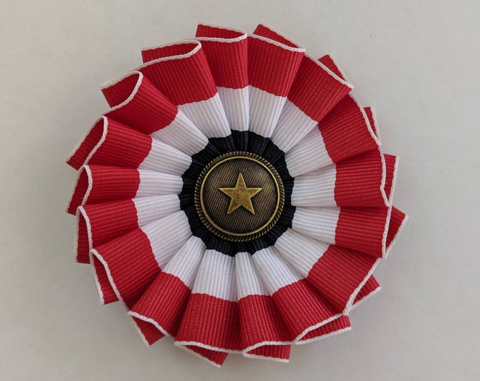 Cockade Red White Blue - Independance Day - Colonial America