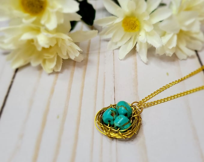Mother's Day Bird's Nest Necklace - Egg Necklace - Mother's Gift - Nest Necklace