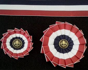 Les Miserables or USA Cockade Red White Blue - American - French Revolution