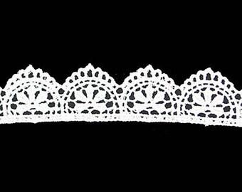 """White or Ivory Venice Lace - 1"""" - Elizabethan Renaissance - Victorian"""