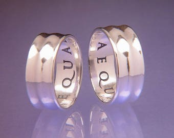 Equality of Rights Sterling Silver Poesy Ring - Latin