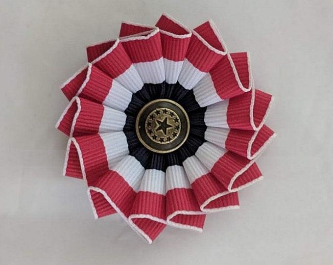 American Patriotic Cockade Red White Blue - Multi-Star
