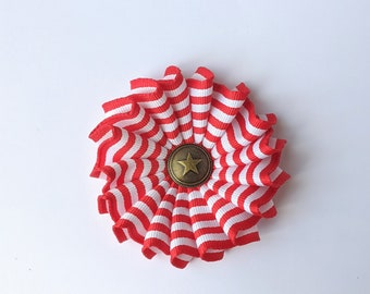 Cockade Red and White - Independence Day - Colonial America