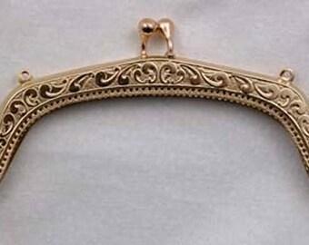 "SALE - 5"" Victorian Scroll Metal Purse Frame - Renaissance Handbag"