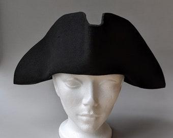 Yorktown Military Tricorn - Stitched Tricorn - American Revolutionary Felt Hat