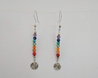7 Chakra Sacred Spiral Earrings