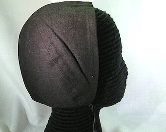 Black or White Cotton Coif  - Renaissance Biggins - England - Italy