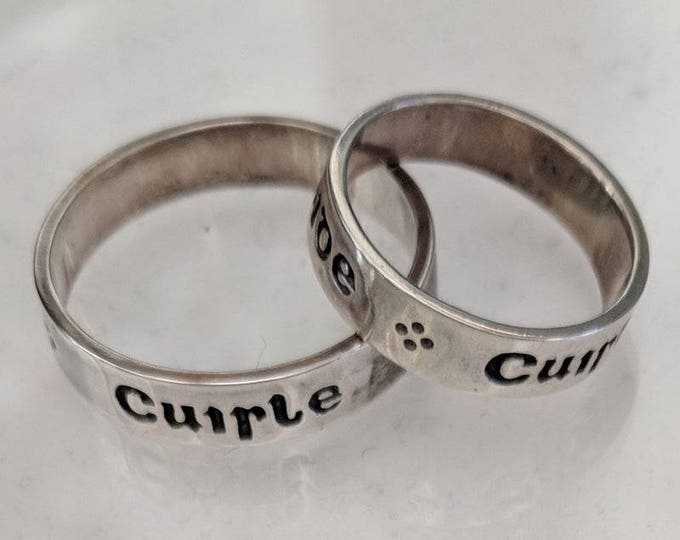 Vintage Gaelic Pulse of My Heart Sterling Silver Poesy Ring