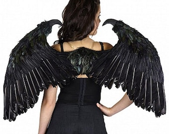 Maleficent Fantasy Wings with Claws Angel of Death Feathers Mardi Gras