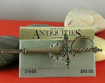 Vintage Antiquities Sword Brooch - Elizabethan Renaissance - Victorian