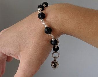 Zodiac Link Bracelet  - Aromatherapy Pendant - Prayer Box - Astrology