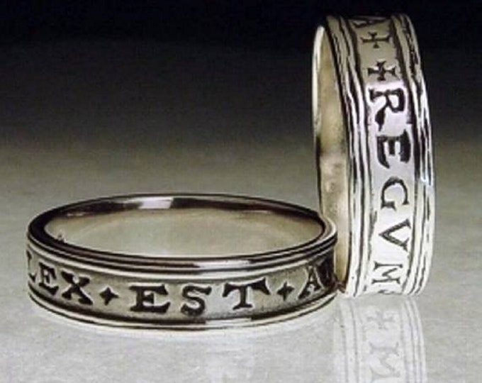 Lawyers Ring Law is the Arm of the Realm 17th c Sterling Silver