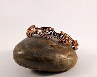 Wire Wrapped Copper Arrows Bracelet  Cuff - Queen of Heaven