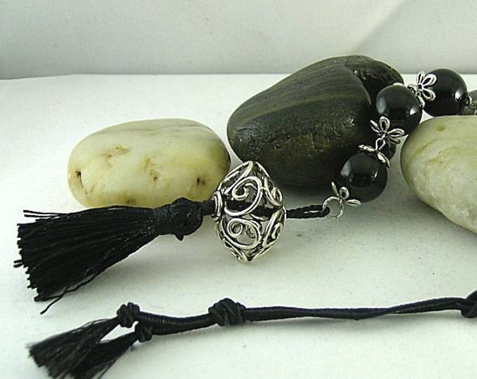 Onyx Paternoster with Pomander - Tenner - Paternoster - Chaplet