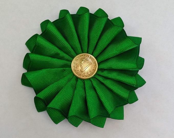 Irish Pleated Cockade - Erin Go Braugh - Society of United Irishmen - Ireland - Pleated