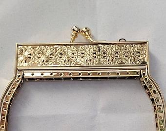 Small Filagree Metal Purse Frame - Renaissance Handbag - Victorian