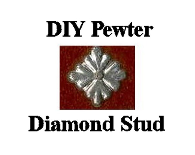Pewter Stud - Diamond or Square Quartrefoil Studs - Belt Fittings